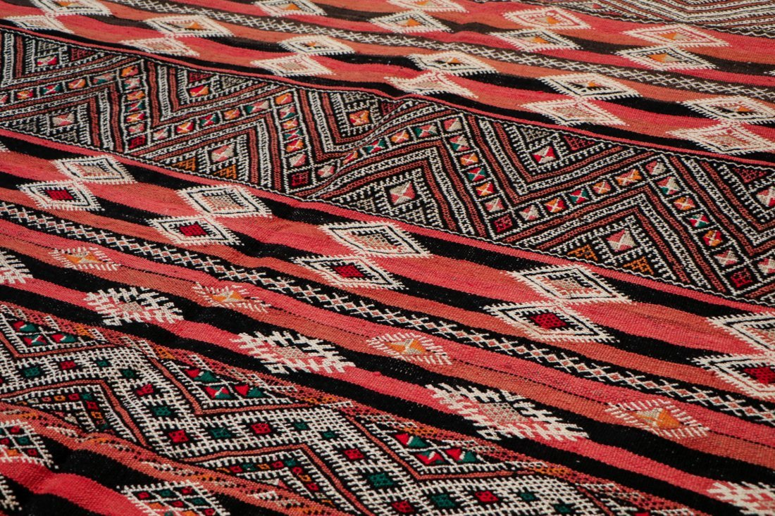 "Vintage Moroccan Kilim: 5'6"" x 10'10"" (167 x 330 cm) - 3"
