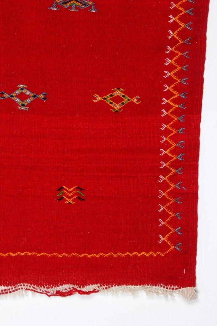 "Vintage Moroccan Kilim: 3'3"" x 3'5"" (100 x 105 cm) - 2"