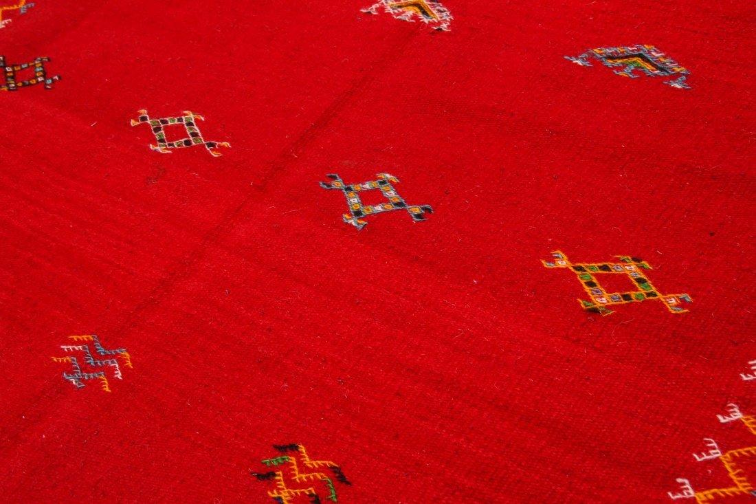 "Vintage Moroccan Kilim: 3'3"" x 3'5"" (100 x 105 cm) - 3"