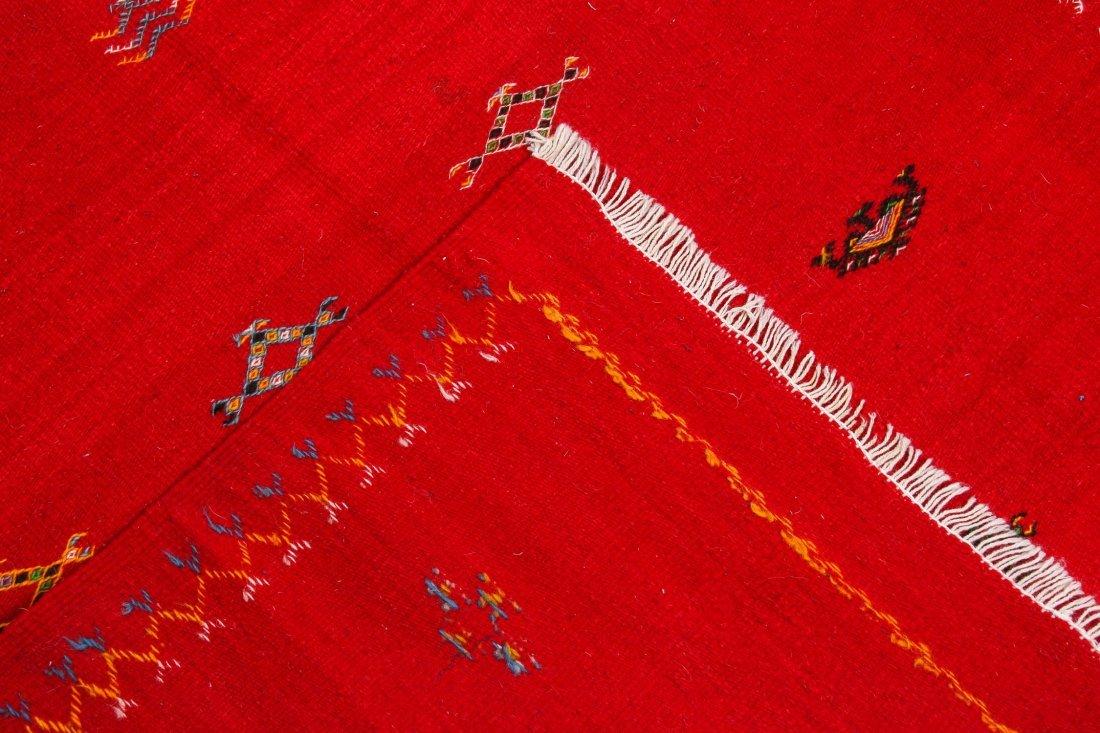 "Vintage Moroccan Kilim: 3'3"" x 3'5"" (100 x 105 cm) - 4"