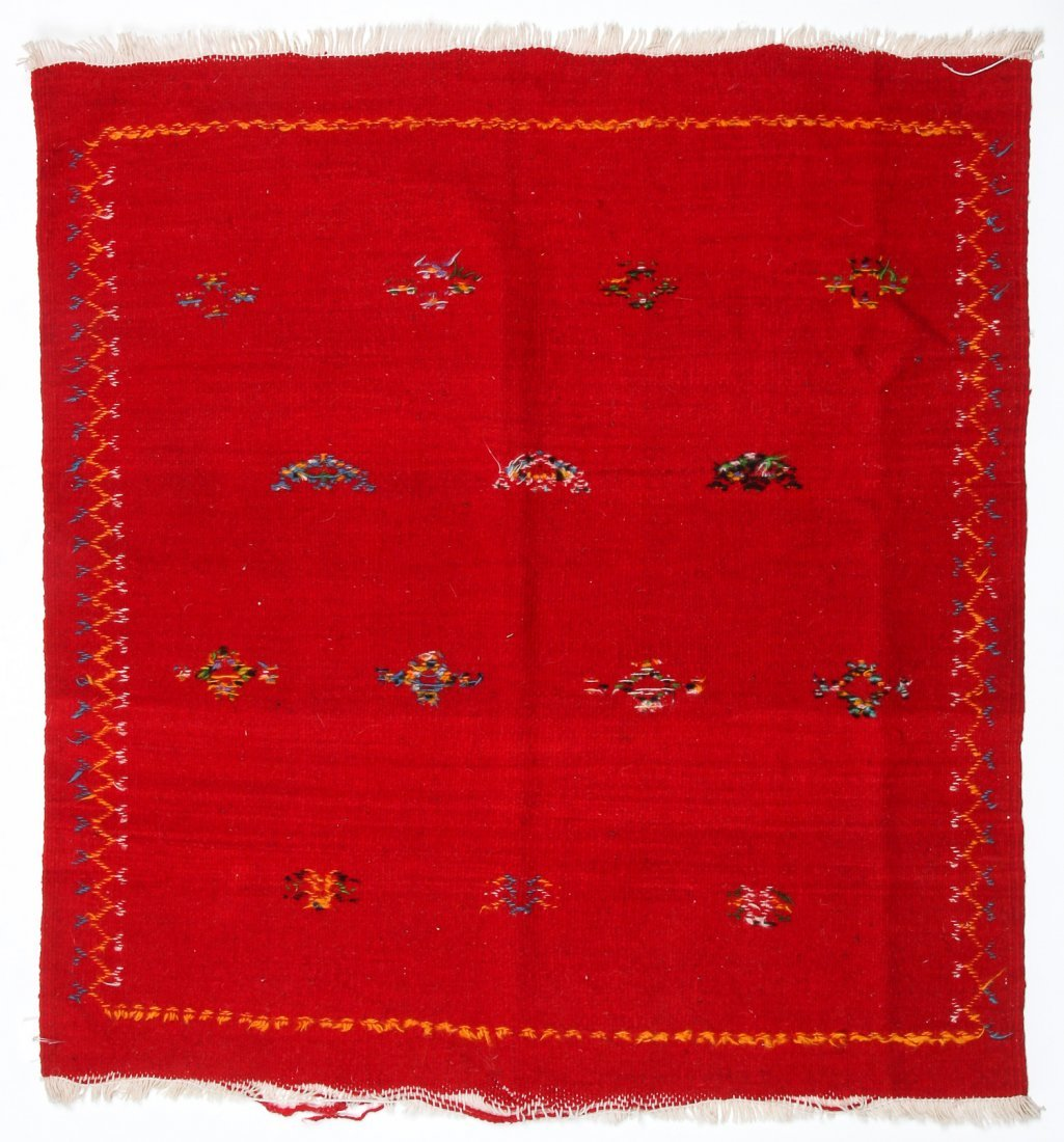 "Vintage Moroccan Kilim: 3'3"" x 3'5"" (100 x 105 cm) - 5"