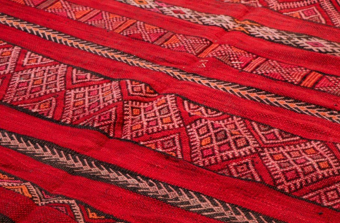 "Vintage Moroccan Kilim: 4'8"" x 7'7"" (141 x 230 cm) - 3"