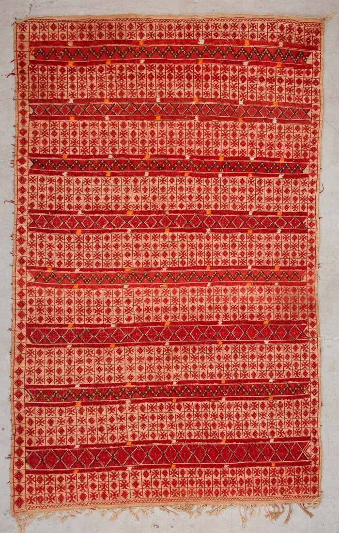 "Vintage Moroccan Mixed Weave Rug: 6'9"" x 10'10"" (205 x"