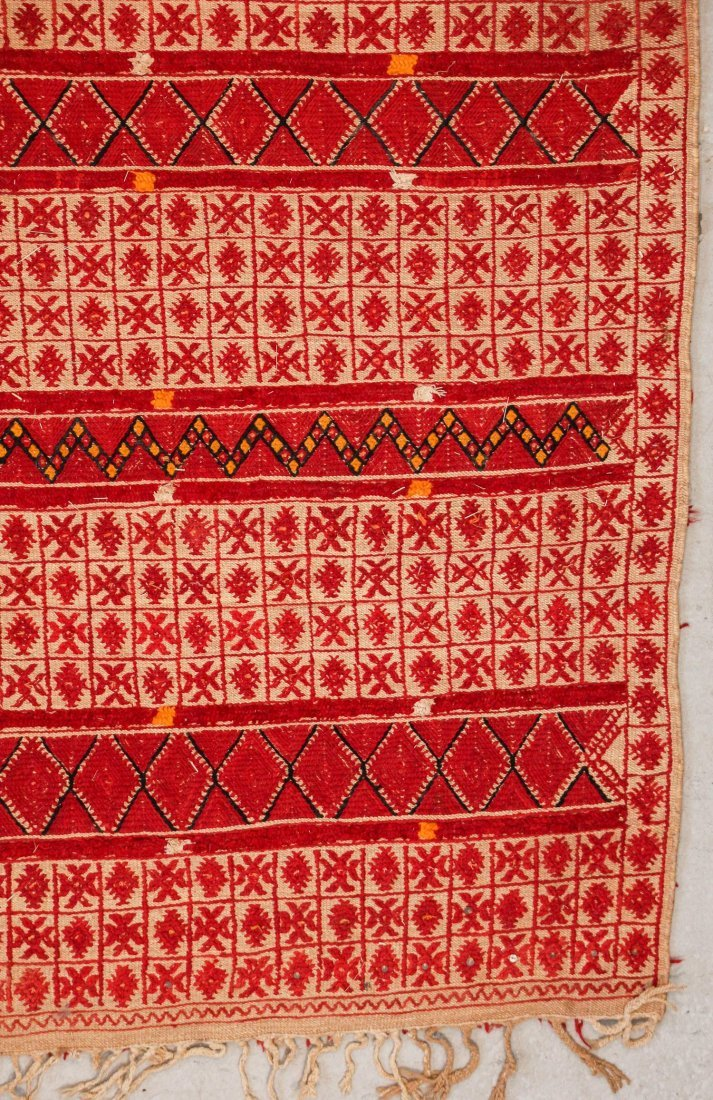 "Vintage Moroccan Mixed Weave Rug: 6'9"" x 10'10"" (205 x - 2"