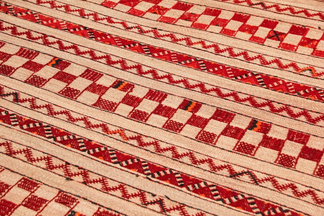 """Vintage Moroccan Mixed Weave Rug: 6'4"""" x 9'3"""" (192 x - 3"""