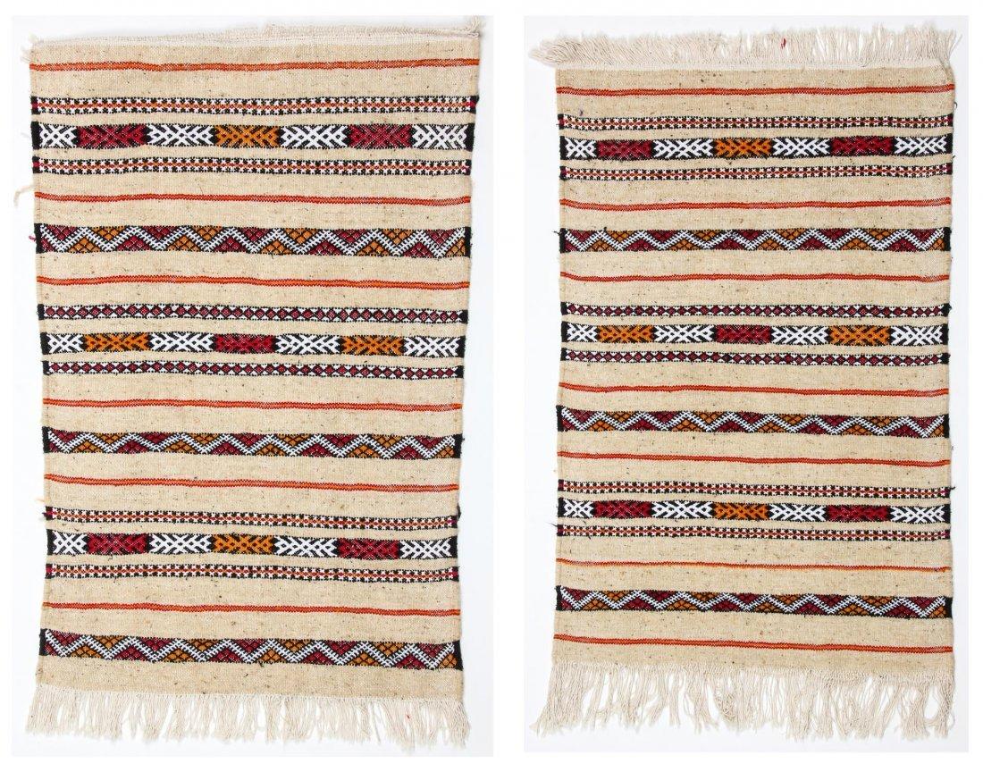 "Pair of Vintage Moroccan Kilims: 2'1"" x 3'2"" (64 x 97"