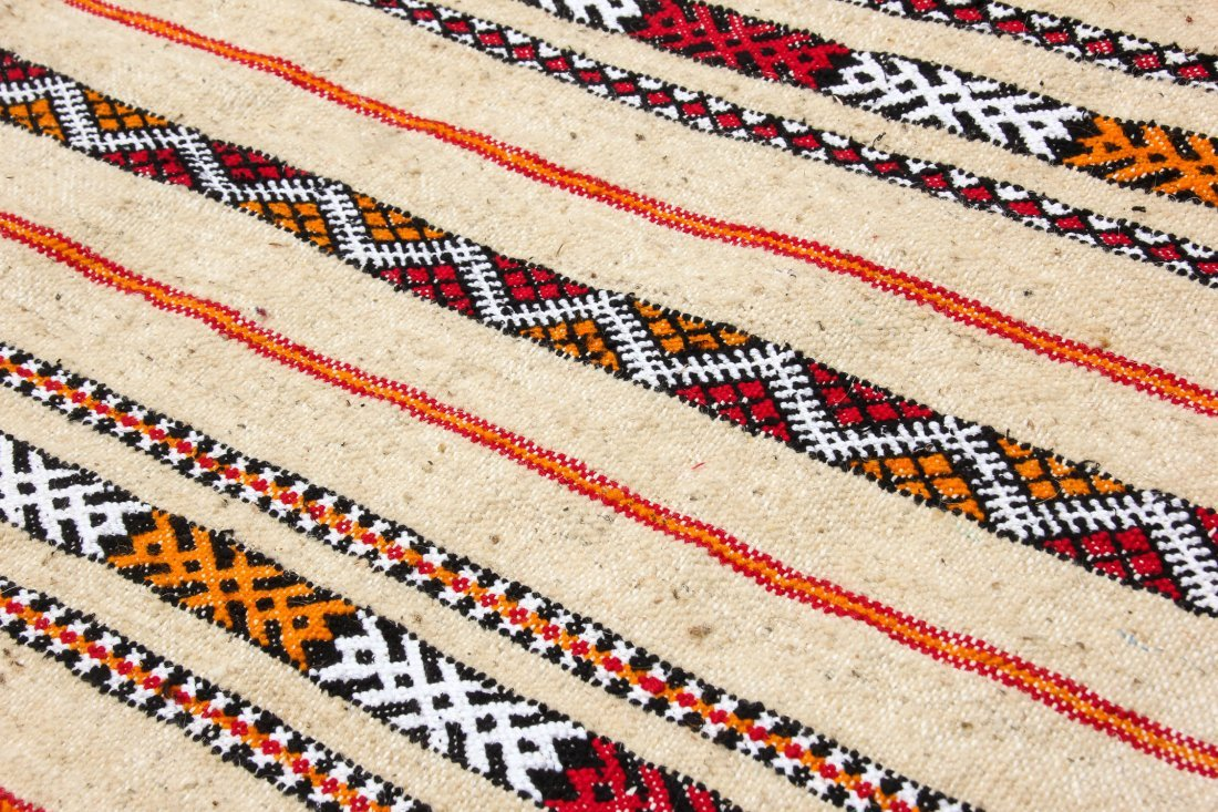 "Pair of Vintage Moroccan Kilims: 2'1"" x 3'2"" (64 x 97 - 3"