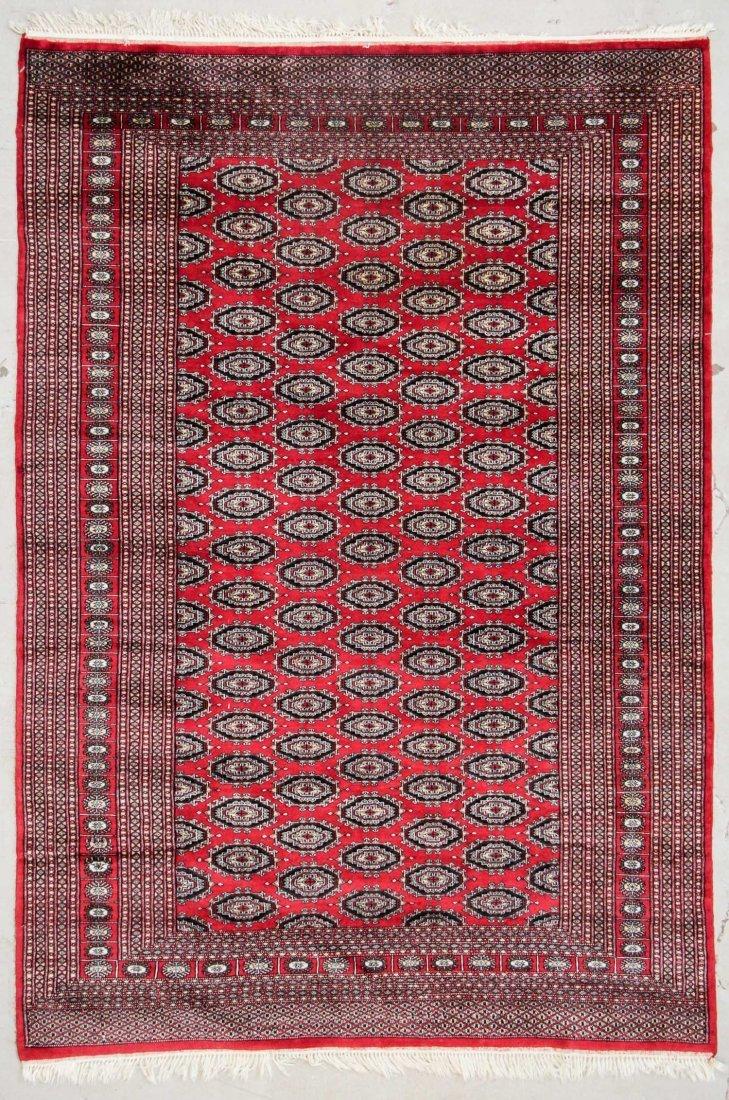 Vintage Pakistan Bokhara Rug: 6'2'' x 9'0''