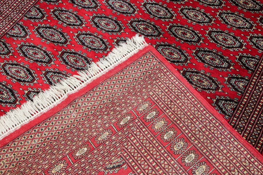 Vintage Pakistan Bokhara Rug: 6'2'' x 9'0'' - 5