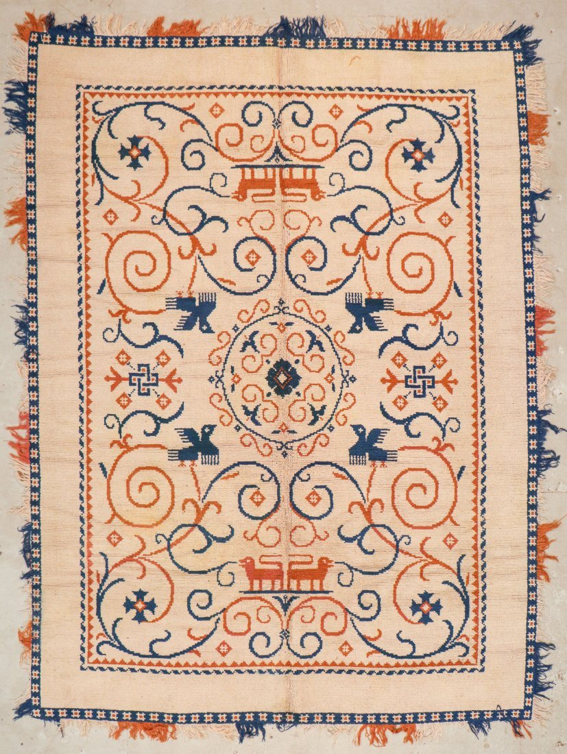 Vintage Spanish Rug: 8'4'' x 11'5'' (254 x 348 cm)