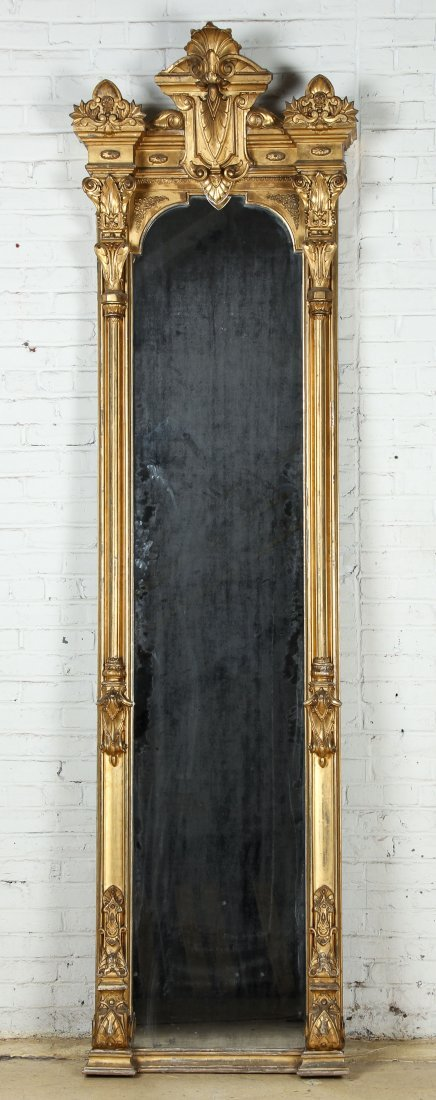 Tall Victorian Gilt Pier Mirror