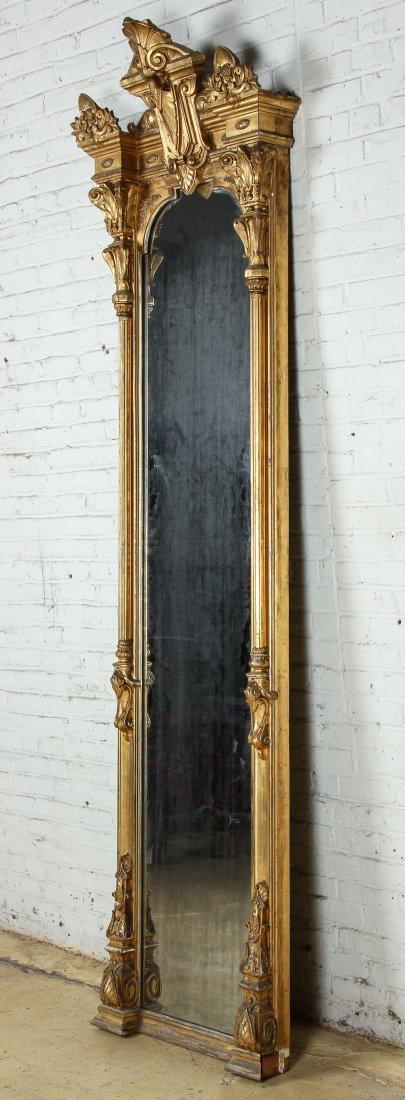 Tall Victorian Gilt Pier Mirror - 3
