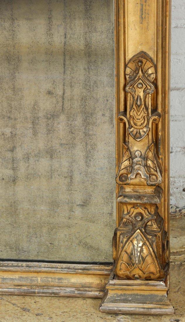 Tall Victorian Gilt Pier Mirror - 7
