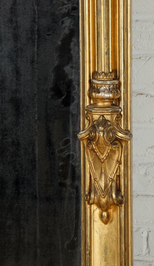 Tall Victorian Gilt Pier Mirror - 8