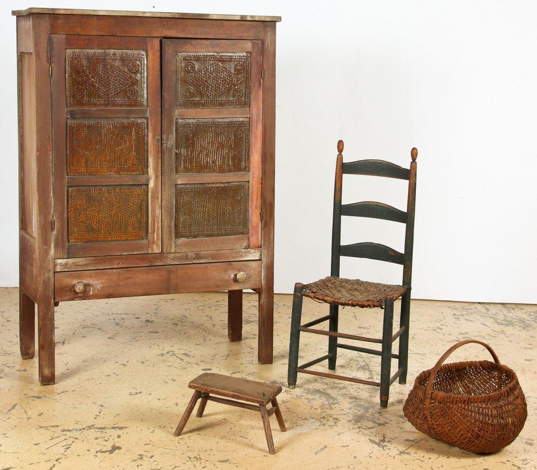Rustic Suite of Antique American Furnishings