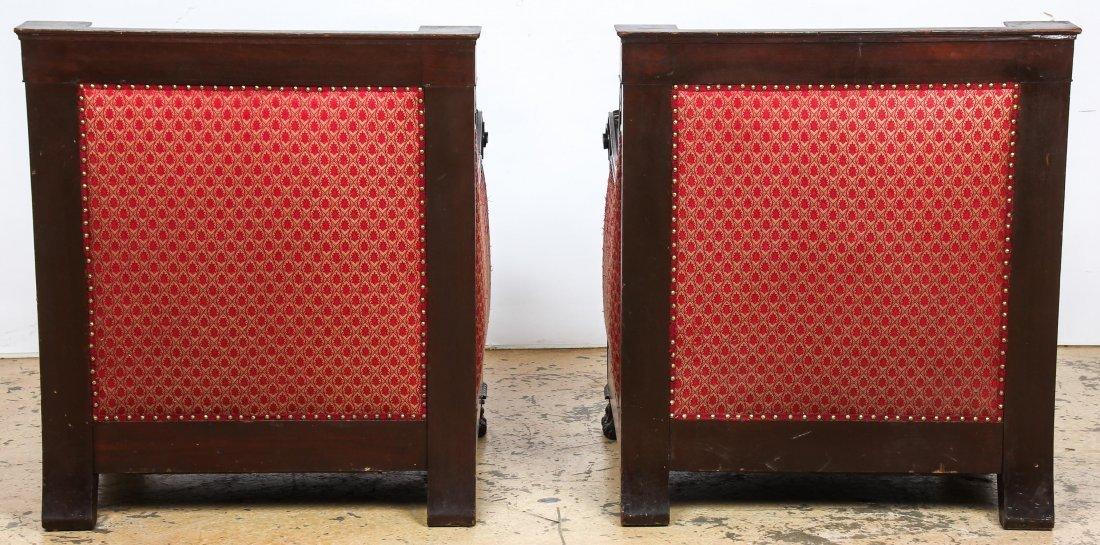 Pair 19th C Renaissance Revival Armchairs - 5