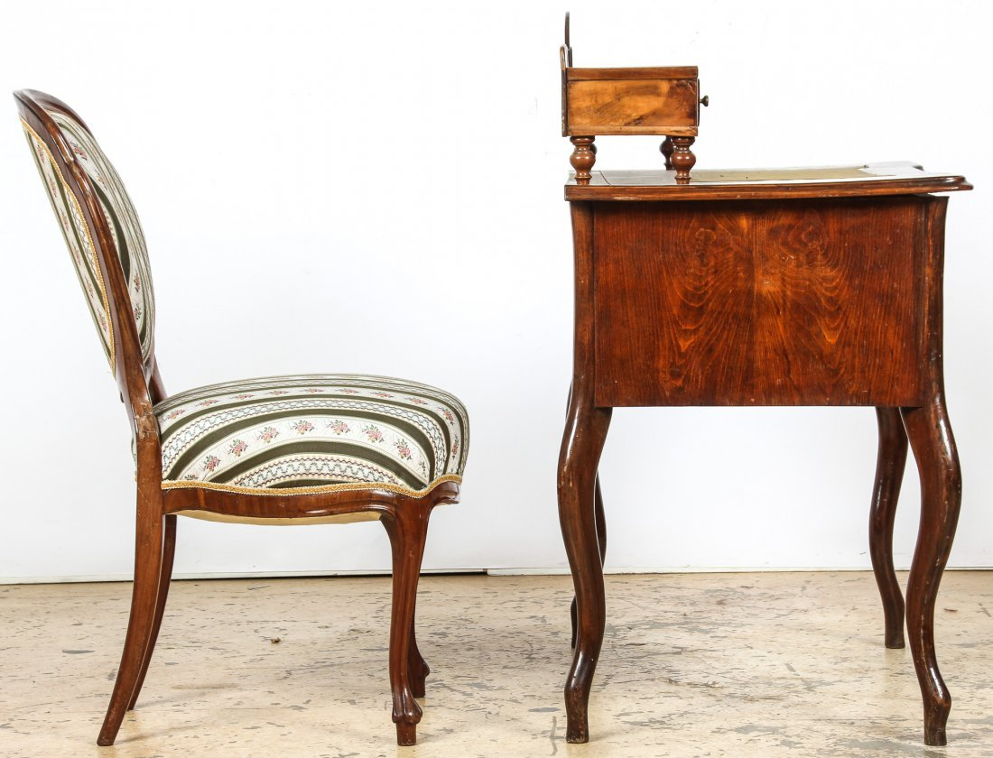 Continental Louis Philippe Style Desk and Chair - 3