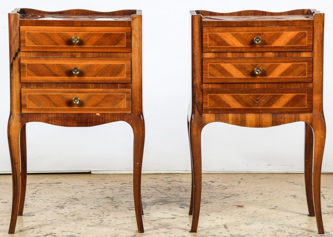 Pair Continental Bed Stands
