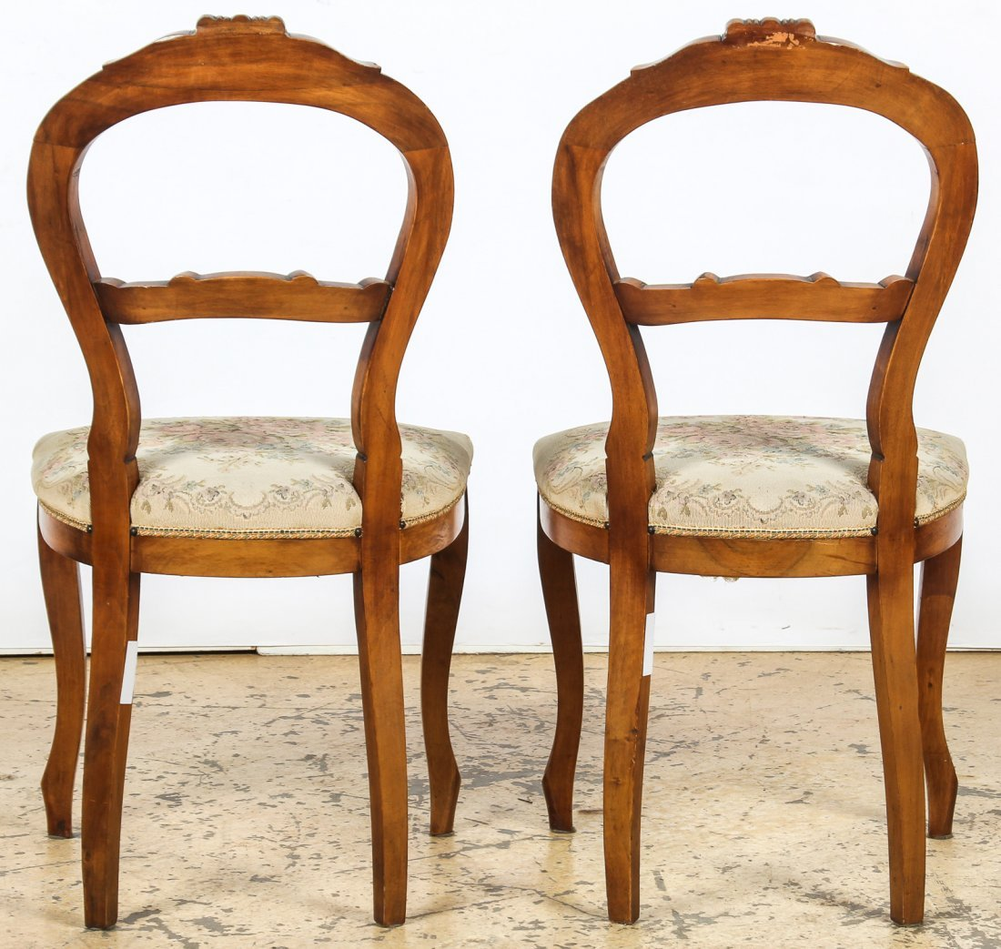 2 Louis Philippe Style Balloon Back Chairs - 5