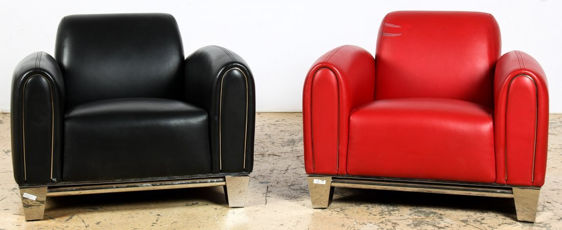 Art Deco Style Club Chairs