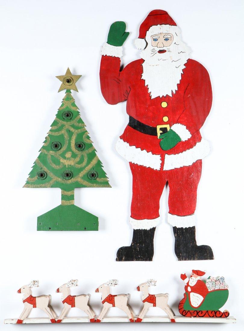 3 Folk Art Christmas Theme Cutouts
