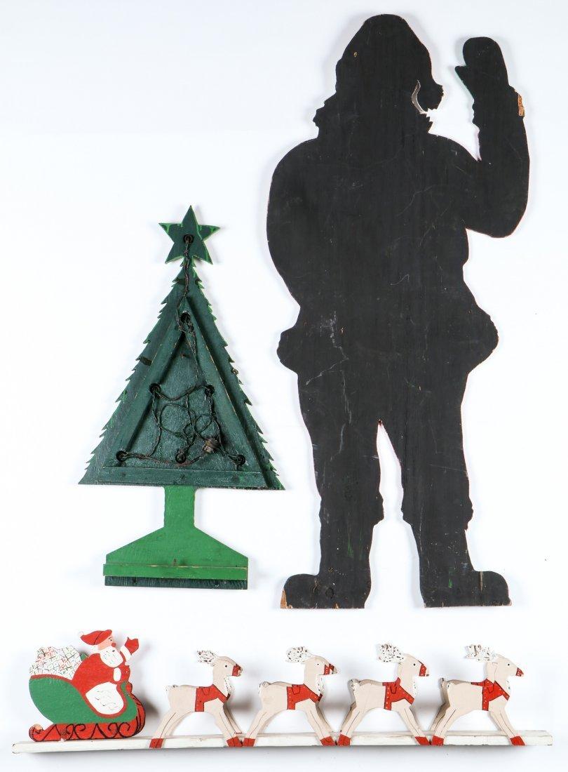 3 Folk Art Christmas Theme Cutouts - 2