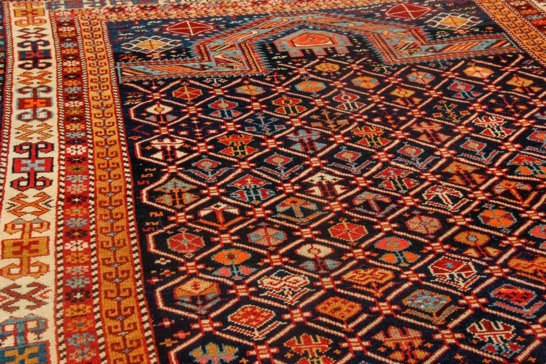 Antique Shirvan Prayer Rug: 4'1'' x 5'8'' (124 x 173 - 3