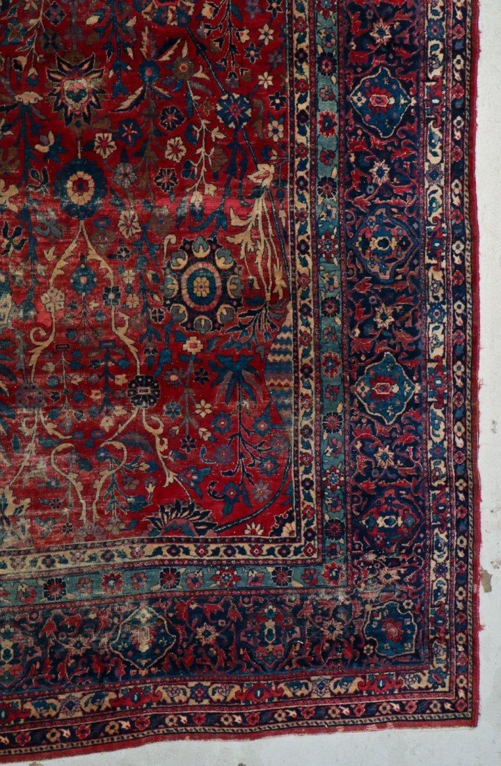 "Antique Kerman Garden ""Vase"" Carpet: 10'5"" x 20' - 2"