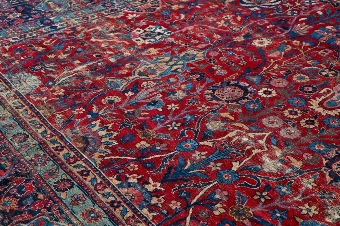 "Antique Kerman Garden ""Vase"" Carpet: 10'5"" x 20' - 3"