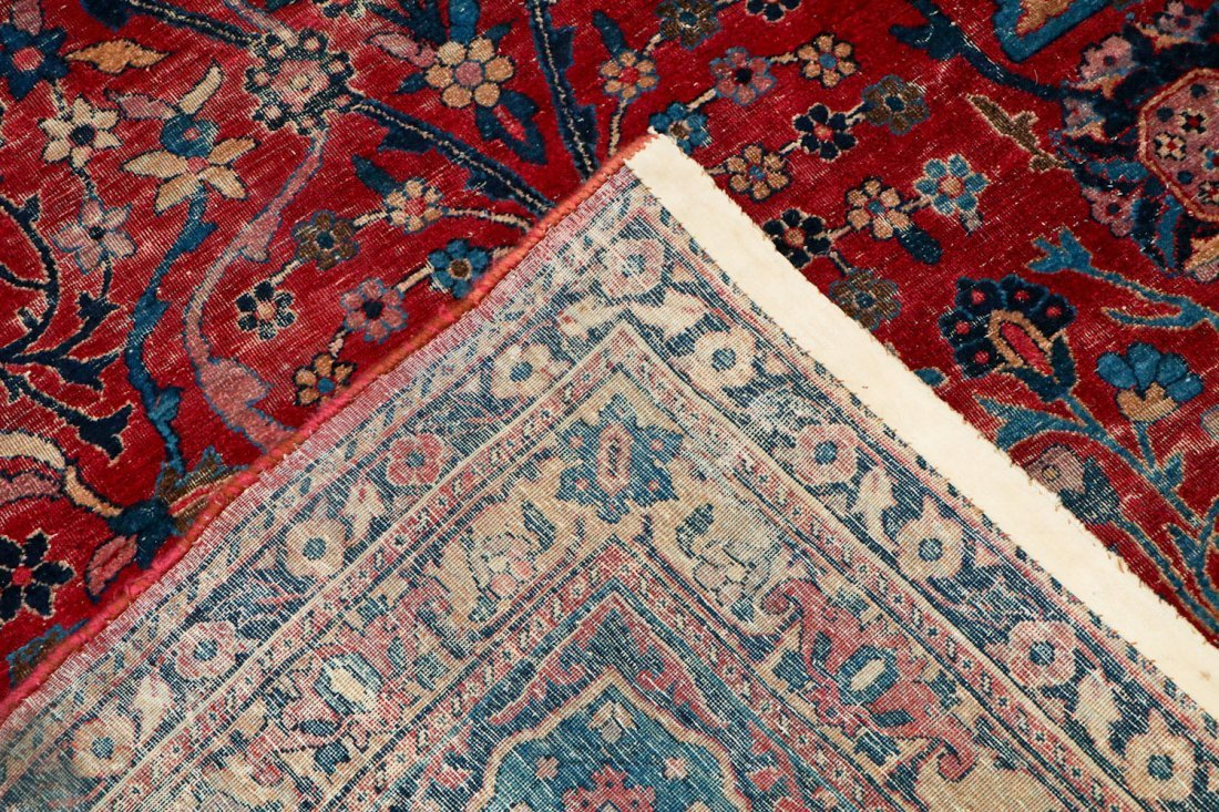 "Antique Kerman Garden ""Vase"" Carpet: 10'5"" x 20' - 4"