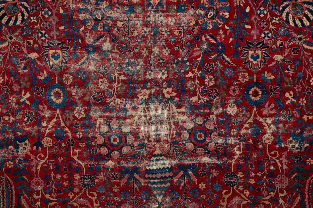 "Antique Kerman Garden ""Vase"" Carpet: 10'5"" x 20' - 8"