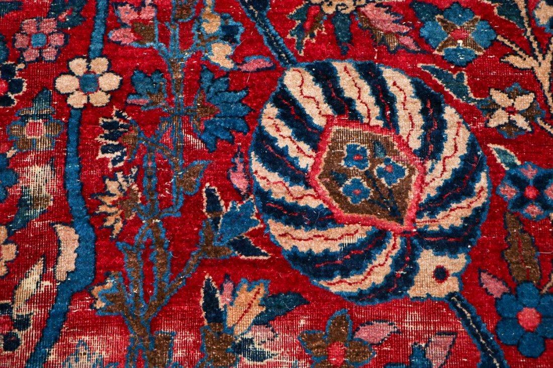 "Antique Kerman Garden ""Vase"" Carpet: 10'5"" x 20' - 9"