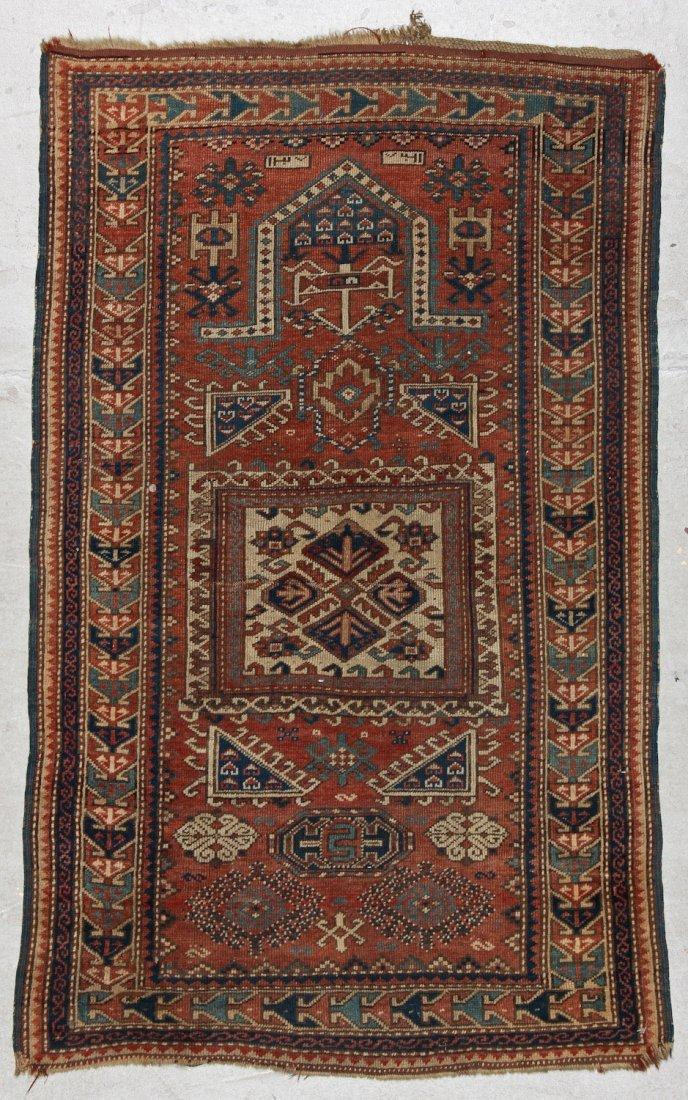 Antique Kazak Rug: 3'4'' x 5'4'' (102 x 163 cm)