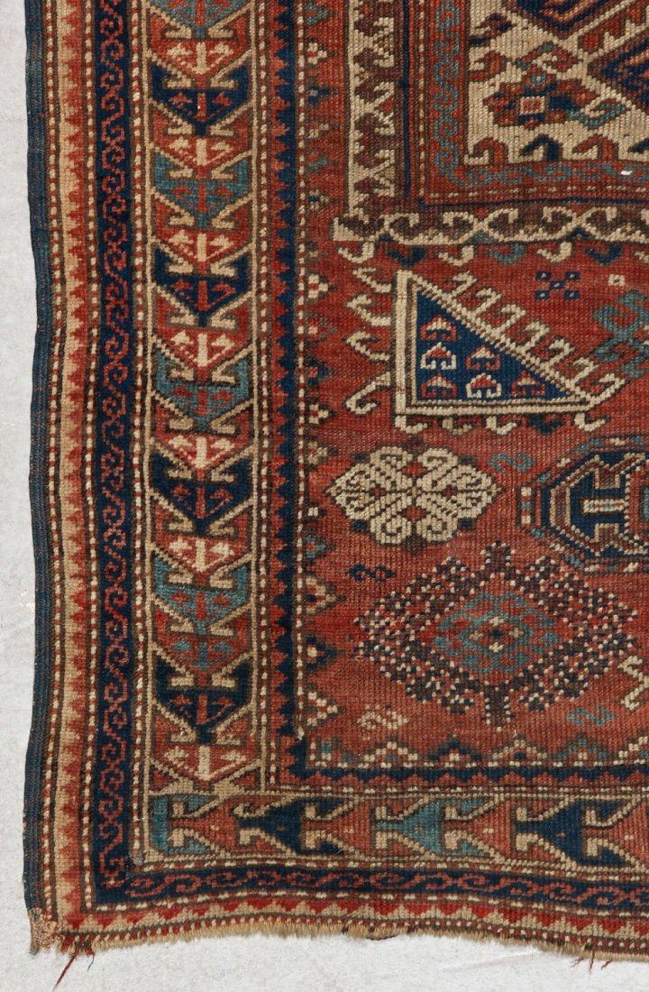 Antique Kazak Rug: 3'4'' x 5'4'' (102 x 163 cm) - 2