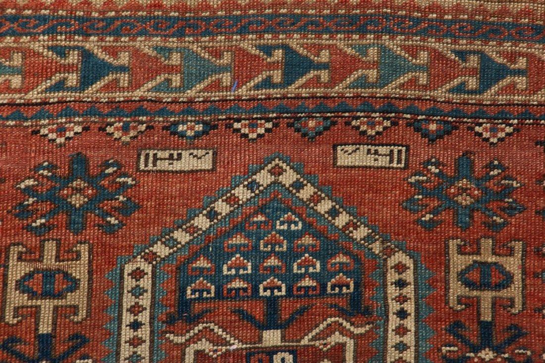Antique Kazak Rug: 3'4'' x 5'4'' (102 x 163 cm) - 3