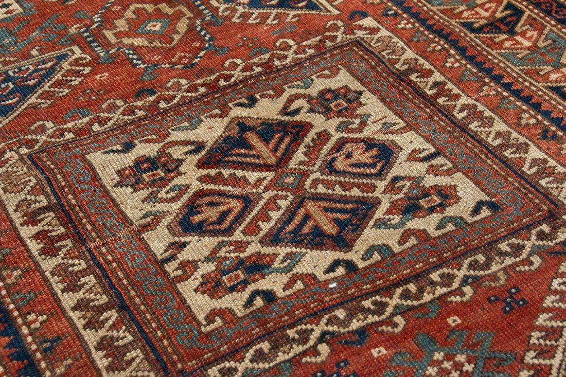 Antique Kazak Rug: 3'4'' x 5'4'' (102 x 163 cm) - 4