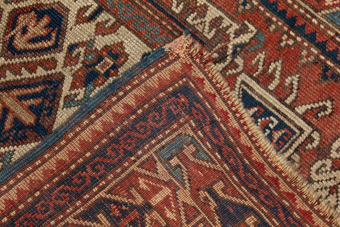 Antique Kazak Rug: 3'4'' x 5'4'' (102 x 163 cm) - 5