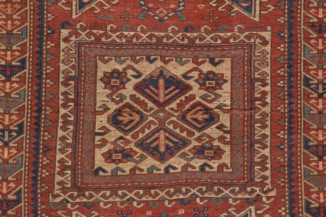 Antique Kazak Rug: 3'4'' x 5'4'' (102 x 163 cm) - 8