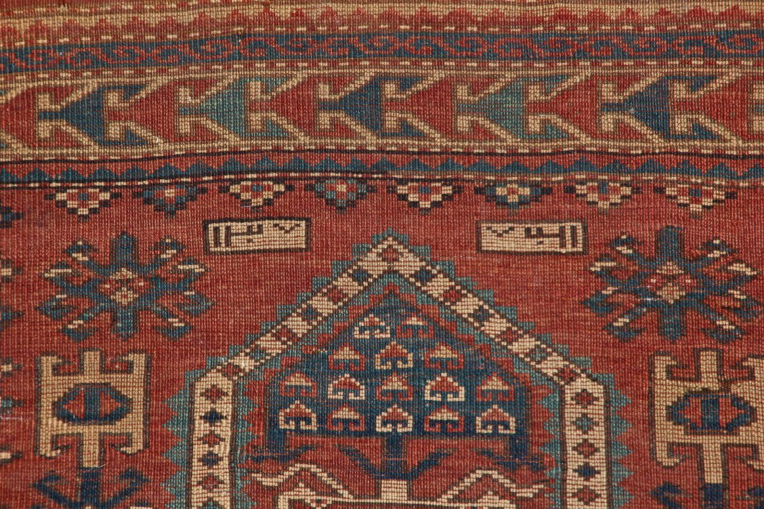 Antique Kazak Rug: 3'4'' x 5'4'' (102 x 163 cm) - 9
