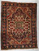 Antique Heriz Rug: 4'10'' x 6'5'' (147 x 196 cm)
