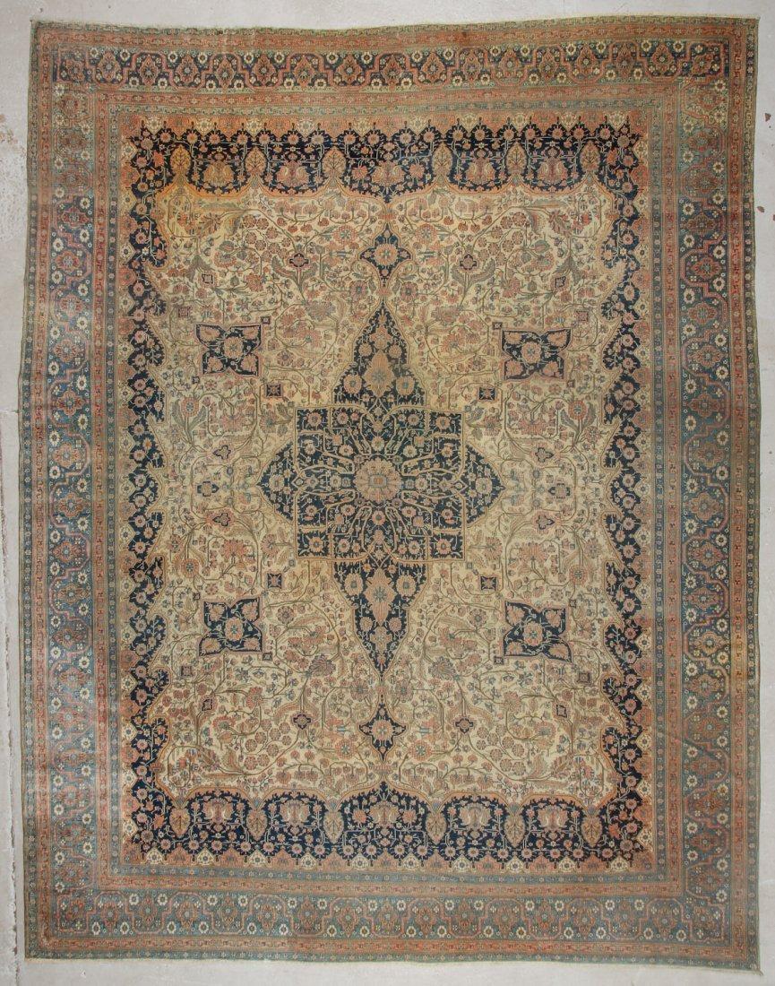 Fine Antique Mohtashem Rug: 10'4'' x 13'0'' (315 x 396