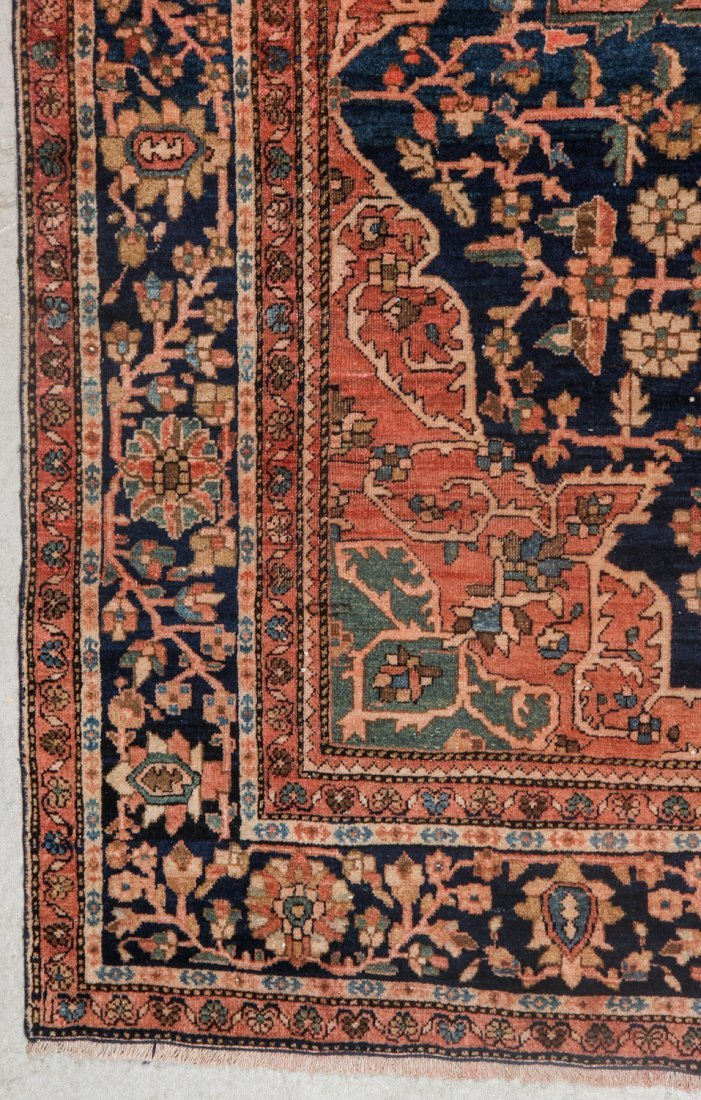 Antique Sarouk Ferahan Rug: 4'3'' x 6'9'' (130 x 206 - 2