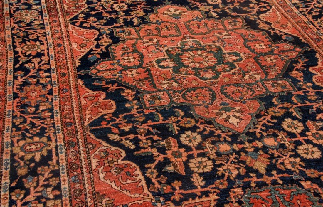 Antique Sarouk Ferahan Rug: 4'3'' x 6'9'' (130 x 206 - 3