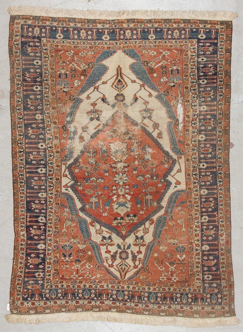 Fine 19th C. West Persian Village Rug: 4'7'' x 6'1'' - 7