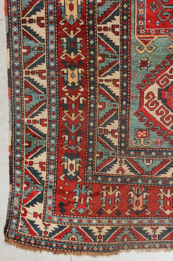 Antique Kazak Rug, 19th C: 5'6'' x 7'3'' (168 x 221 cm) - 2