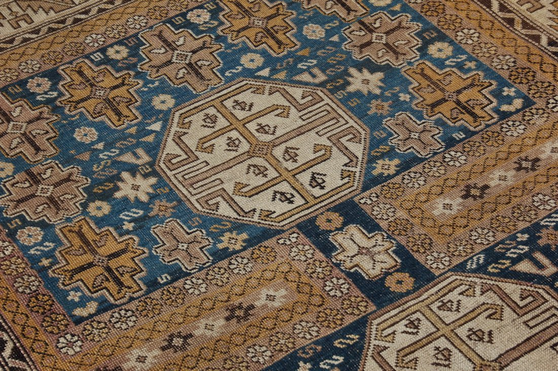 Antique Shirvan Rug: 3'11'' x 4'11'' (119 x 150 cm) - 4