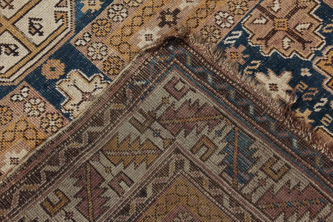 Antique Shirvan Rug: 3'11'' x 4'11'' (119 x 150 cm) - 5