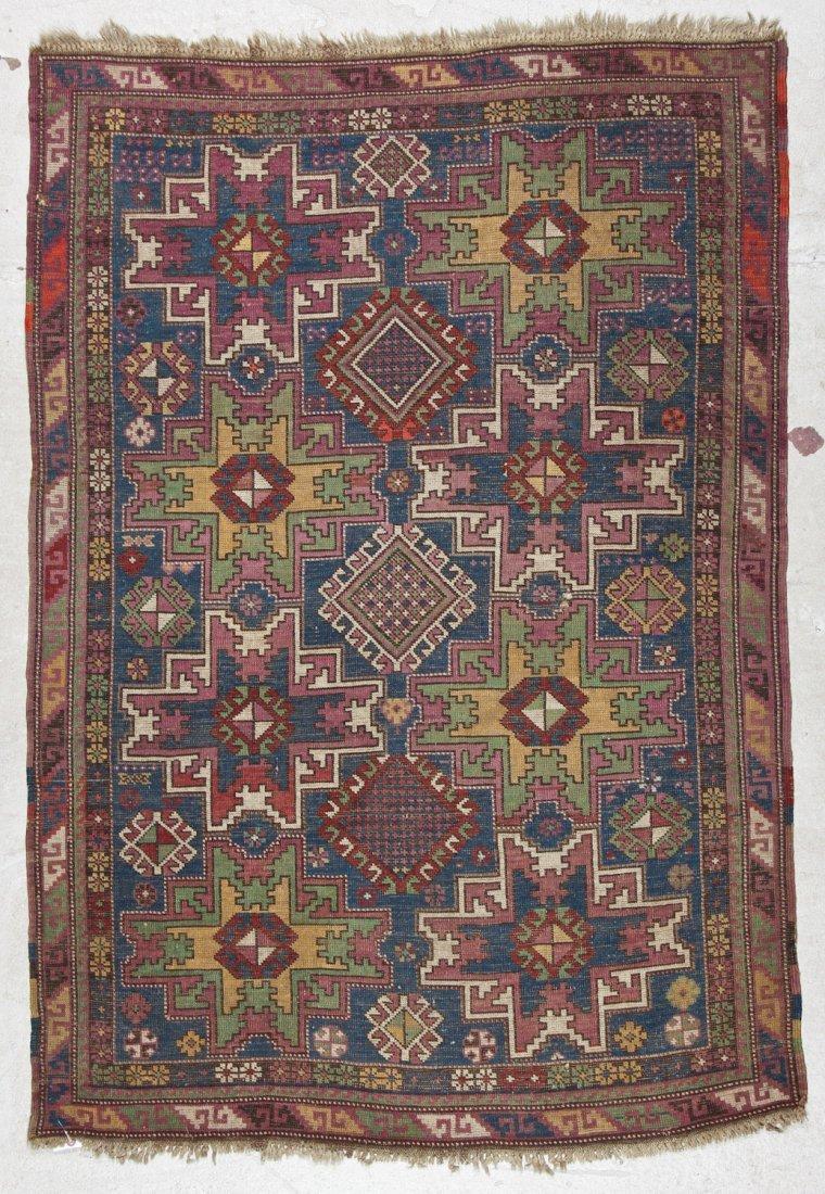 Antique Shirvan Rug: 3'10'' x 5'6'' (117 x 168 cm) - 6
