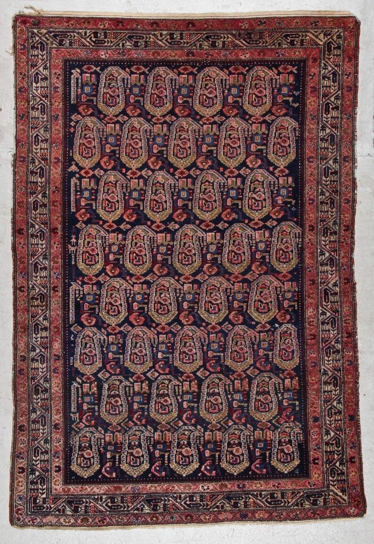 Antique Malayer Rug: 4'7'' x 6'9'' (140 x 206 cm)