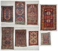 Estate Collection of 8 Antique Rugs